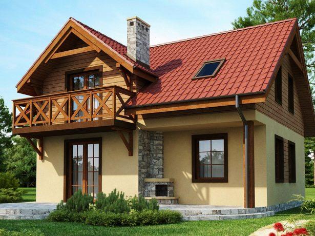Проекти одноповерхових і двоповерхових будинків з мансардою