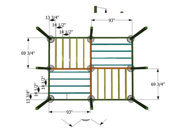 Спорудити підлогу: спочатку обладнайте піщану подушку, шар якої повинен бути 100 мм.її необхідно ретельно ущільнити.